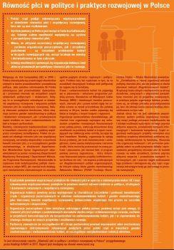 Równość płci w polityce i praktyce rozwojowej w Polsce 1