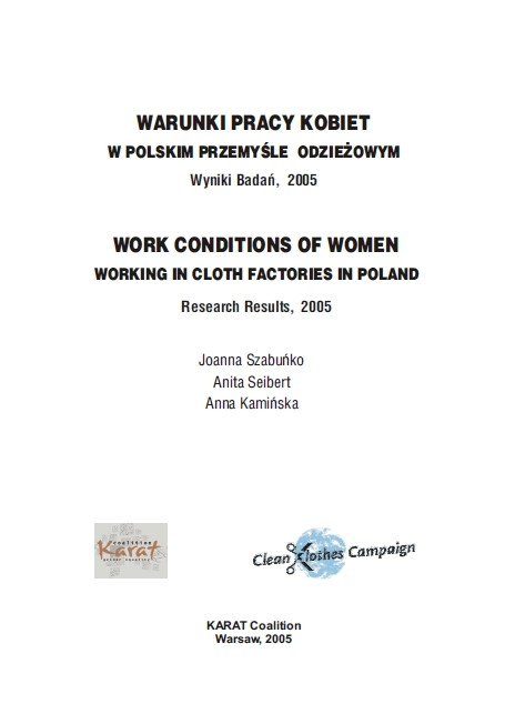 Report: Work conditions of women working in cloth factories