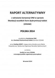Raport alternatywny z wdrażania konwencji CEDAW w Polsce.