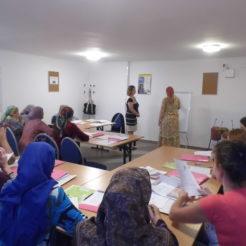 Lekcje polskiego dla uchodźczyń w Ośrodku dla Cudzoziemców w Łukowie